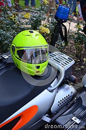 Motorbike of an emergency doctor