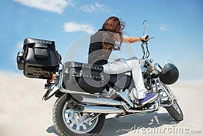 Motorbike and girl