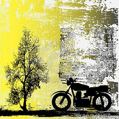 Motorbike Grunge Background