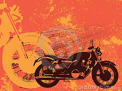 Motorbike Grunge Background Royalty Free Stock Photo - Image: 21080325
