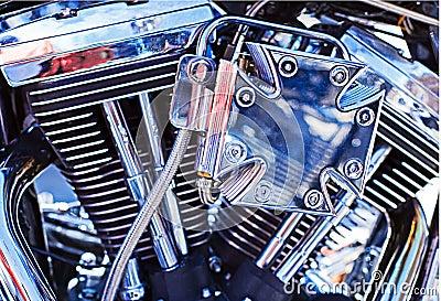 Motorbike motor Editorial Image