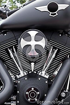 Motorbike motor detail Editorial Stock Image
