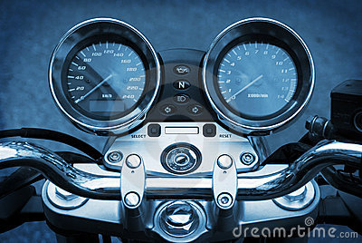 Motorbike motorcycle blue background