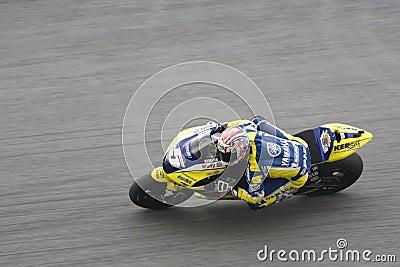 Motorbike racer on track Editorial Stock Photo