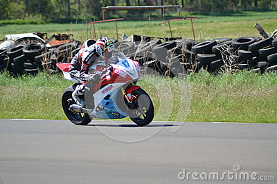 Motorbike racing Editorial Stock Photo