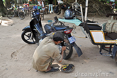 Motorbike Repair Shop Editorial Image