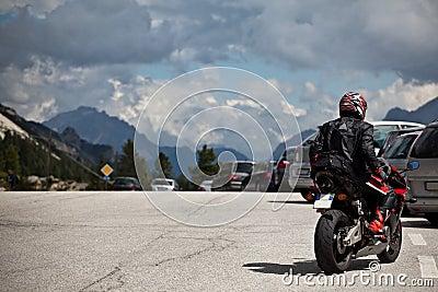 Motorbikes on Mountain Road