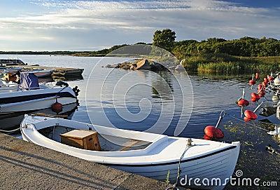 Motorboat seaport