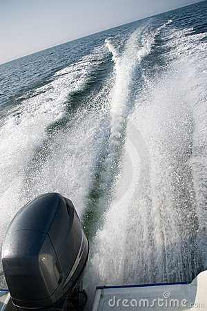 Free Motorboat Wake Stock Images - 2494684