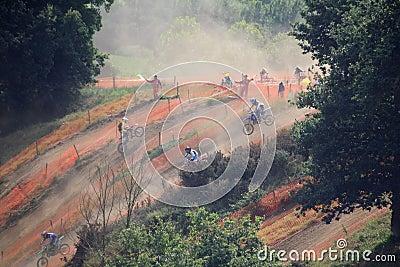 Motorcross in the dust