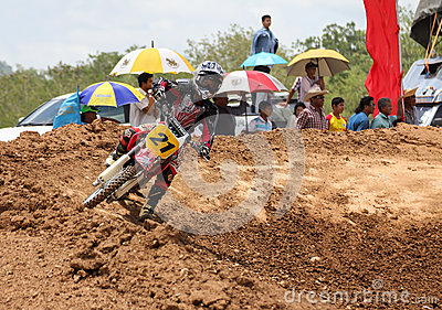 Motorcross racing Editorial Stock Image
