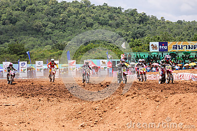 Motorcross racing2 Editorial Photo