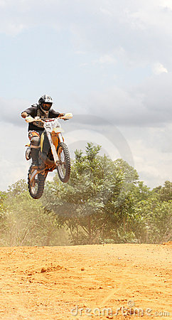 Motorcross Rider In A Race