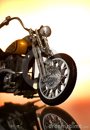Motorcycle on abstract background Editorial Stock Image