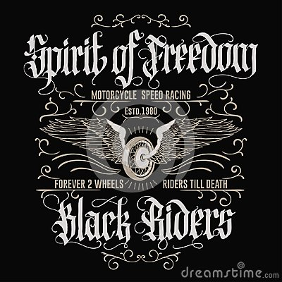 Free Motorcycle Biker Sport T-shirt Emblem. Vector Royalty Free Stock Photography - 114248527