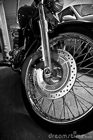 Motorcycle black and white