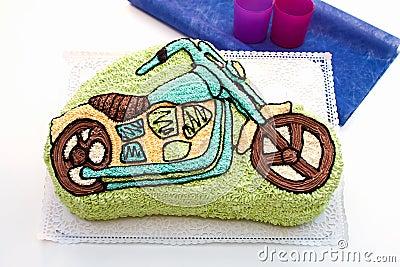 Motorcycle (child) cake