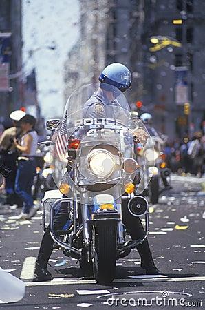 Motorcycle Cop Editorial Image