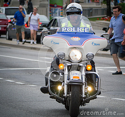 Motorcycle Cop Editorial Photography