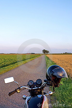 Motorcycle in the country