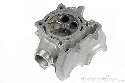 Motorcycle Cylinder Head (bottom view)