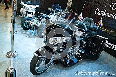 Motorcycle Honda Gold Wing black