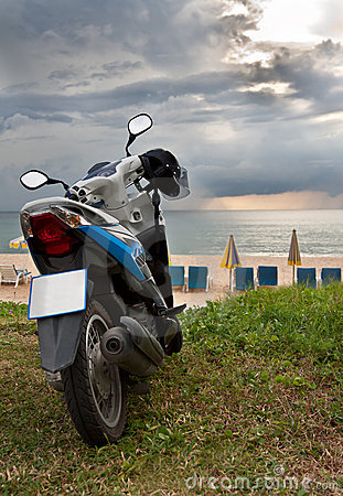 Motorcycle on Karon Beach Phuket