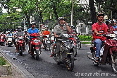 Motorcycle Madness in Ho Chi Minh City, Vietnam Editorial Stock Image