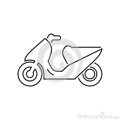 Free Motorcycle, Motorbike, Scooter Icon Simple Flat Vector Illustrat Stock Photography - 93388112