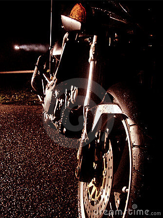 Motorcycle at night
