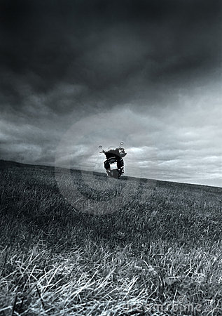 Free Motorcycle On The Meadow Royalty Free Stock Image - 13707446