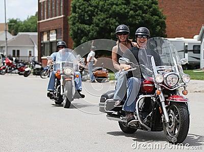 Motorcycle Poker Run People smiling