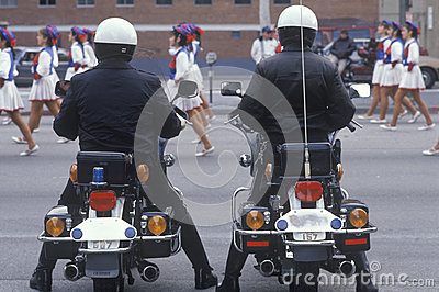 Motorcycle police at parade Editorial Stock Photo
