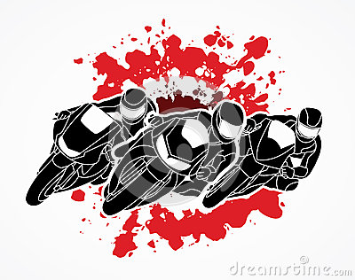 Motorcycle Racing graphic Vector Illustration