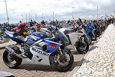 Motorcycle rally, Hastings Editorial Stock Photo