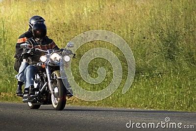 Motorcycle Riders on a Street Hog