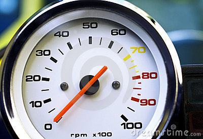 Motorcycle rpm gauge