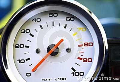 Motorcycle rpm gauge