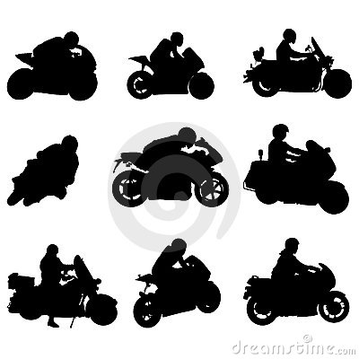 Free Motorcycle Set Stock Images - 9349534