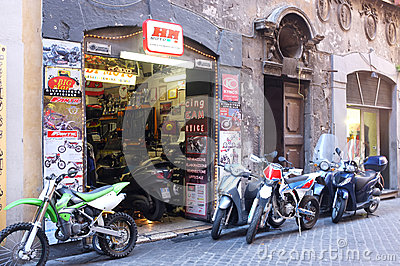 Motorcycle shop Editorial Stock Image