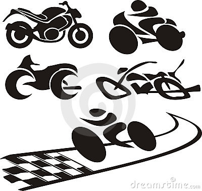 Motorcycle silhouette - logo