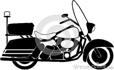 Motorcycle silouhette