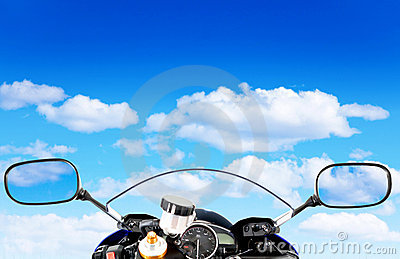 Motorcycle at the sky