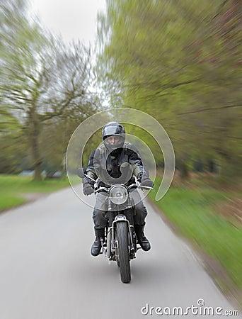 Motorcycle speeding
