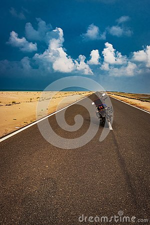 Motorcycle Ridding love with message Stock Photo