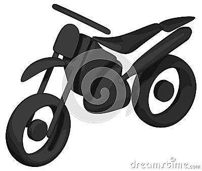 Dirt Bike (Shaded - Silhouette)