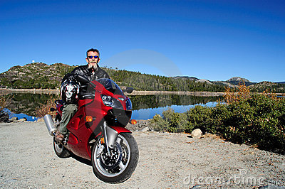 Motorcycle To The Lake