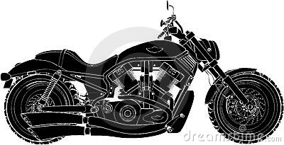 Motorcycle Vector 01 Editorial Photo