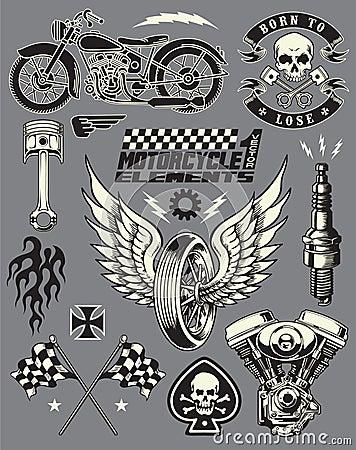Motorcycle Vector Elements Set Stock Photo Image 31718740