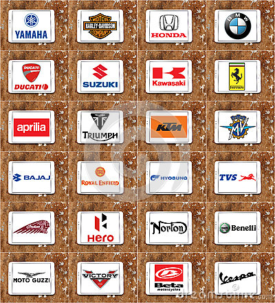 Free Motorcycles Producers Logos And Brands Royalty Free Stock Photo - 65446365